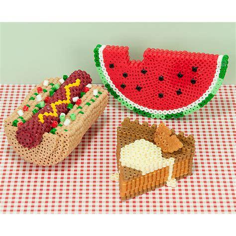 perler 3d ideas 3d picnic faves perler