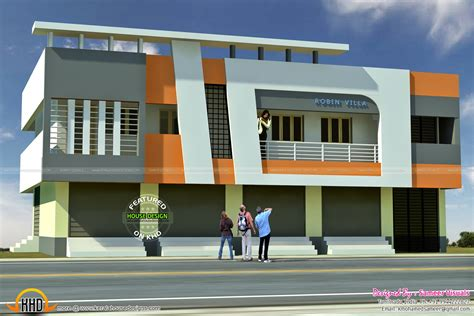 home design shops 5 shop with residence 2620 sqft kerala home design and