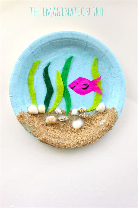 crafts with paper plates the sea paper plate craft the imagination tree