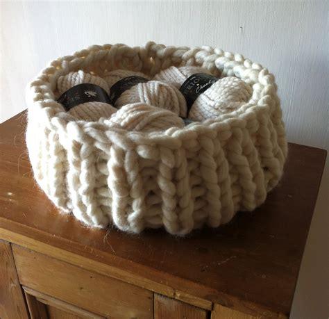 knitting basket knitted basket progress knitting revolution