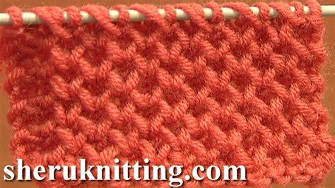 how to knit stitch knitting stitch patterns tutorial 4 honeycomb knitting