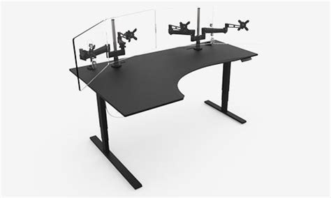l shaped studio desk gaming desk evodesk