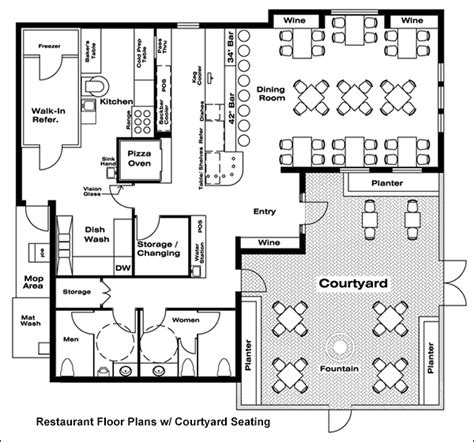 restaurant floor plan with dimensions restaurant floor plans drafting software cad pro
