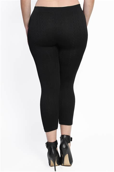 plus size cable knit tights themogan plus size cozy warm cable knit high waisted