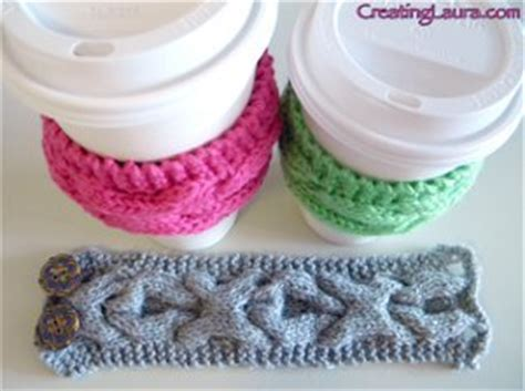 free knitting pattern coffee cup sleeve xoxo coffee cup sleeve allfreeknitting