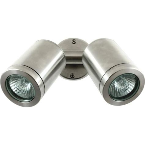 mains lights hunza outdoor lighting wall spot gu10 stainless