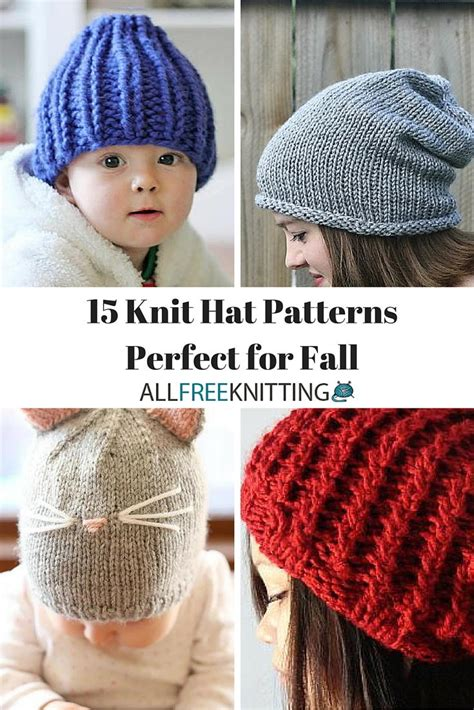 knitting patterns for larger 15 knit hat patterns for fall allfreeknitting