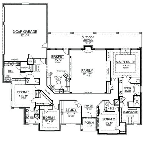one story house plans with 4 bedrooms simple 4 bedroom house plans zdrasti club