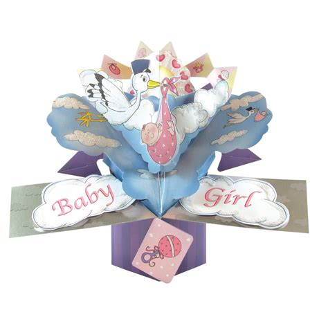 pop up greeting cards new baby pop up greeting card original second nature