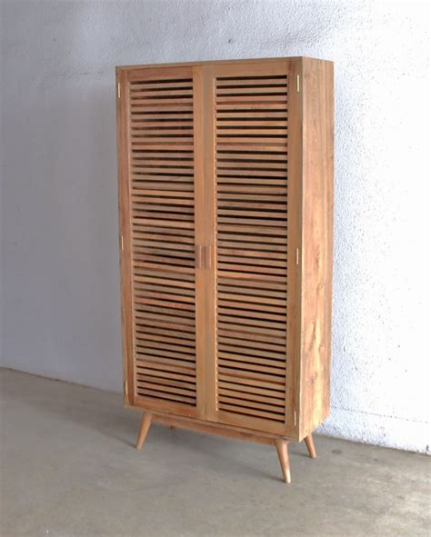 furniture tall wood shoes cabinet with shutter doors and
