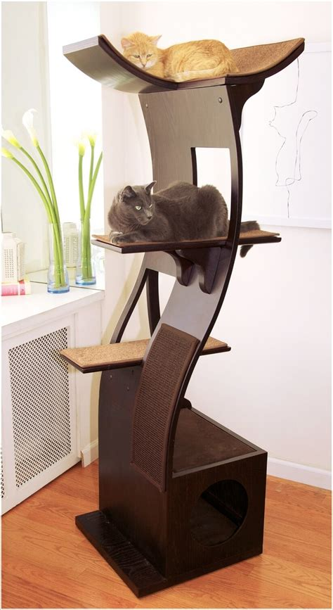 tree with cats cool cat tree furniture designs your cat will