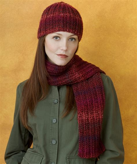 knitted scarf hat knit hat scarf strickmuster