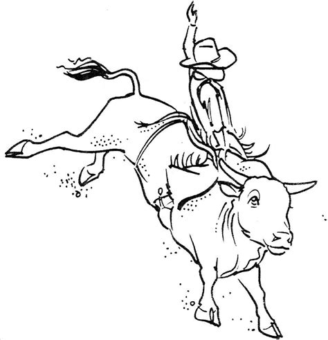 unmounted rubber stamps western bull riding set cowboys