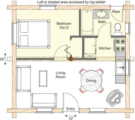log cabin floor plans small tiny log cabin plans with loft