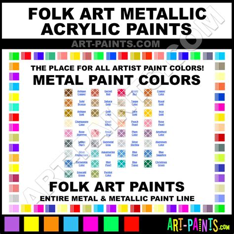 folk acrylic paint on glass folk metallic acrylic metal paint colors metallic