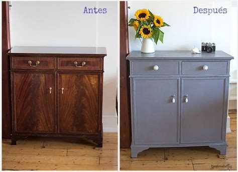 chalk paint mueble salon antes y despu 233 s transformar un mueble con chalk paint