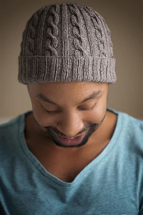 knit mens hat approved cabled hat pattern expression fiber arts