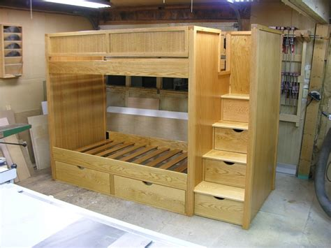 build bunk bed stairs plans for bunk beds with stairs diy woodworking projects