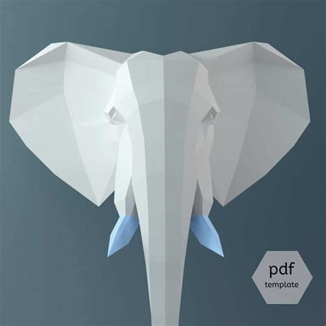 origami elephant pdf 3d paper craft origami lets you build animal to hang
