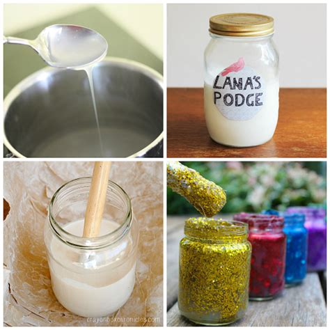 glue recipe list of supply recipes crafty morning