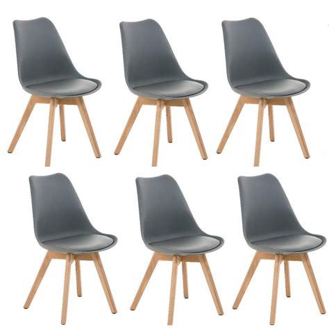lot de 6 chaises salle a manger maison design foofaq