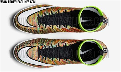 nike knitted football boots nike mercurial x multicolor boots released footy headlines