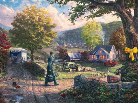 Wizard Of Oz Wall Murals homecoming hero the thomas kinkade company