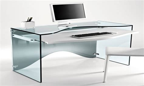 glass computer desk modern 28 images glass computer