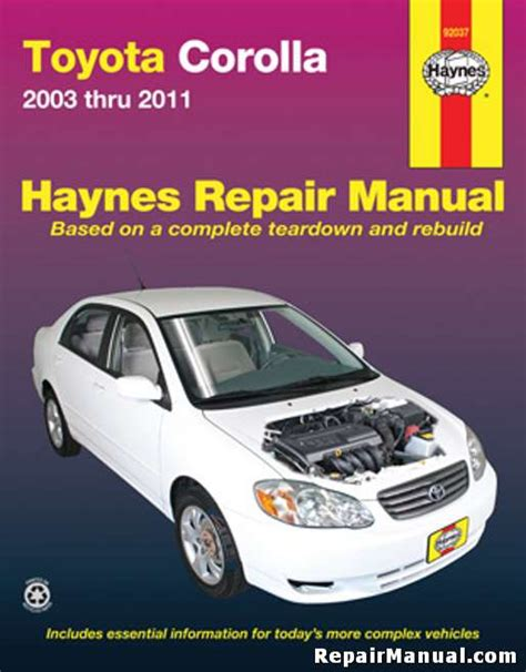 what is the best auto repair manual 2011 honda insight engine control haynes toyota corolla 2003 2011 auto repair manual