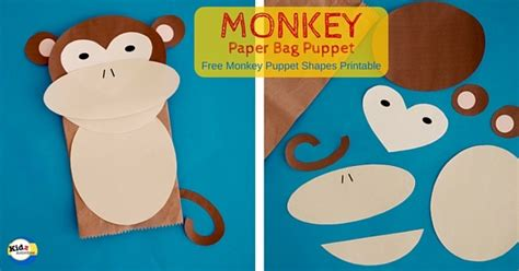 paper bag monkey craft monkey paper bag puppet kidz activities