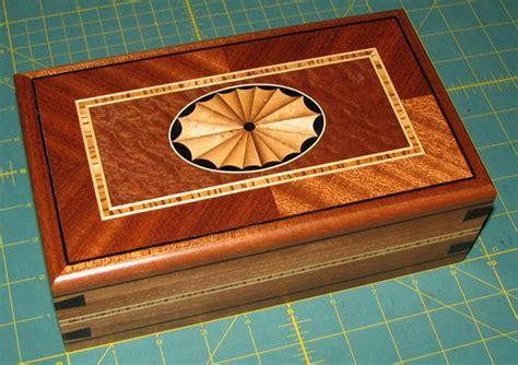 Sapele Box With Fan Inlay