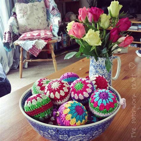 crochet decorations uk turn cheap baubles into gorgeous crochet baubles