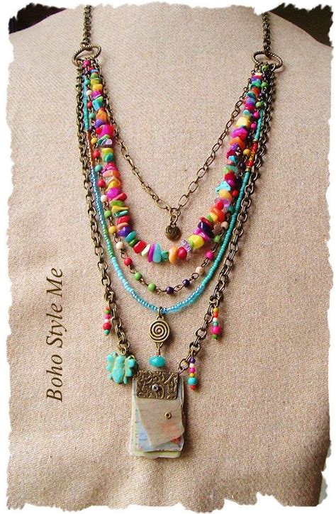 how to make bohemian jewelry 25 best ideas about bohemian necklace on