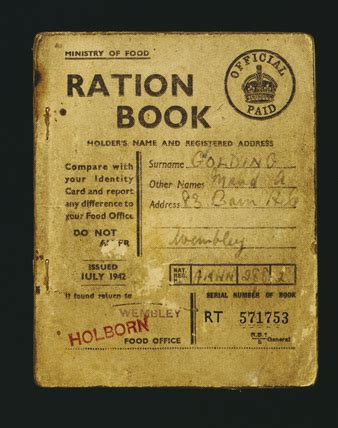 pictures of ration books food ration book 1942 by ministry of food at museum of