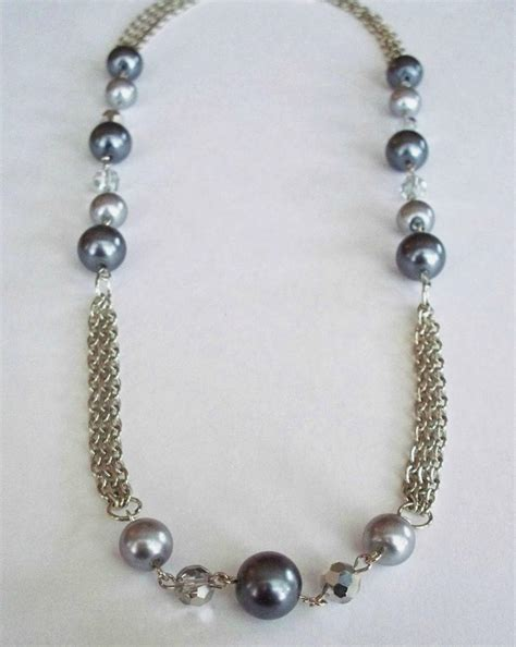 diy beaded necklace shimmering beaded chain diy necklace