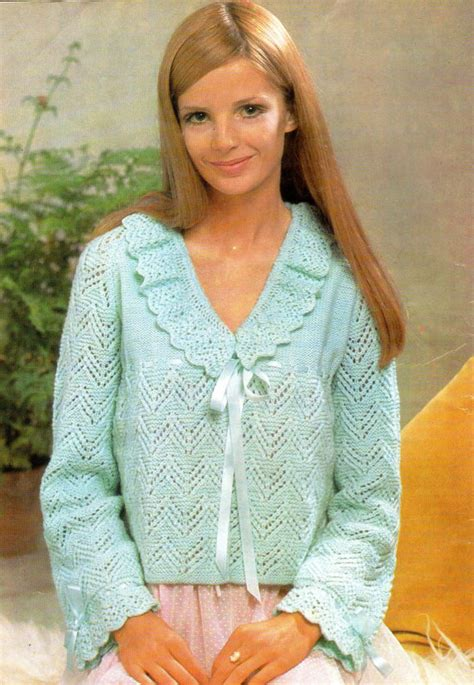 knitted bed jacket pattern free items similar to bed jacket vintage knitting pattern pdf