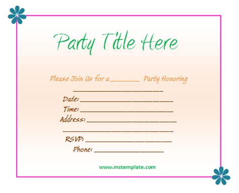 template for invitation free invitation templates templates platform