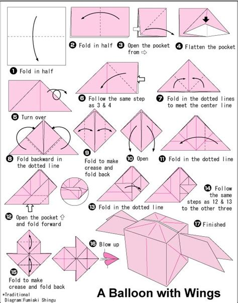 how to make an origami paper balloon 49 best images about origami on sushi toilet