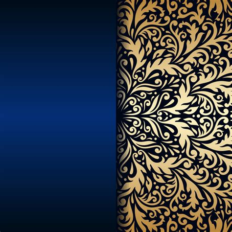 Car Wallpapers Free Psd Files Golden by Luxury Blue Background With Ornament Gold Vector 09 Free