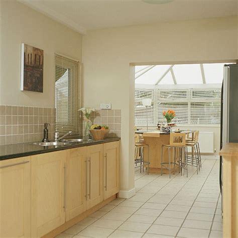 modern galley kitchen conservatory diner dining room