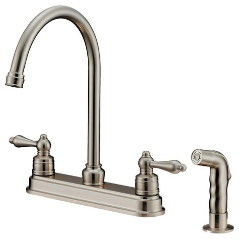 nickel faucets kitchen lk8b kitchen faucet with shower sprayer brushed nickel kitchen sink faucets single handle