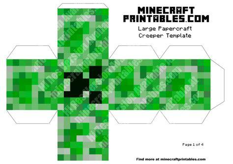 minecraft printable paper crafts creeper printable minecraft creeper papercraft template