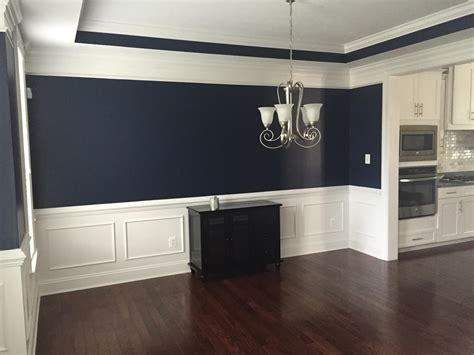 powder blue sherwin williams absolutely this navy blue color in our dining room