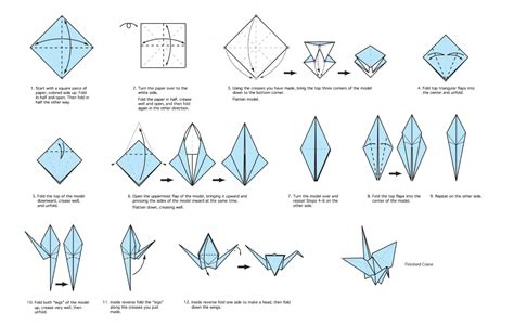 fold origami crane crane drawing mr
