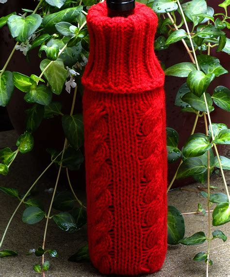 knitting pattern for wine bottle cover bulky machine wine bottle cover cckittenknits s weblog