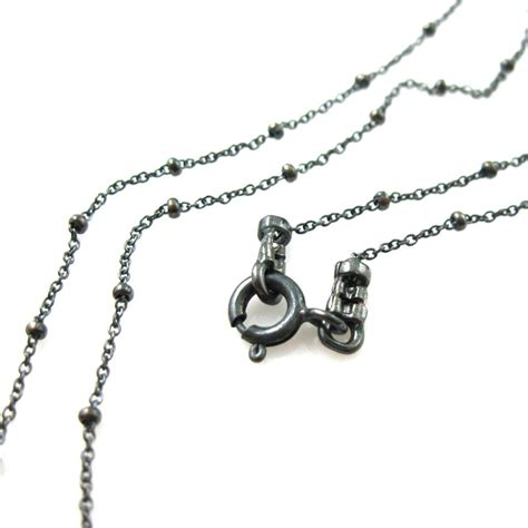 sterling silver chain for jewelry oxidized silver necklace oxidized sterling silver chain