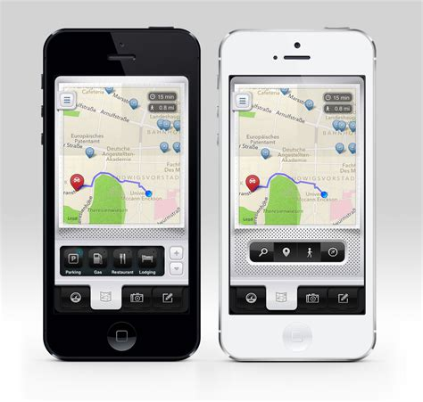 Car Apps For An Iphone by Parkbud For Iphone Map Screen Iphone 5 App Design Ui