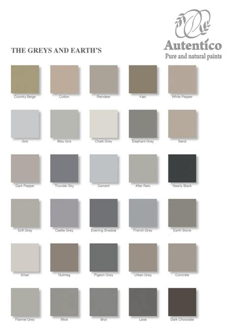 autentico chalk paint autentico paints colour chart diy shabby chic
