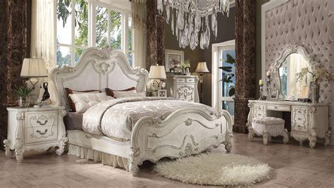 versailles bedroom set 5 acme versailles bone white panel bedroom set