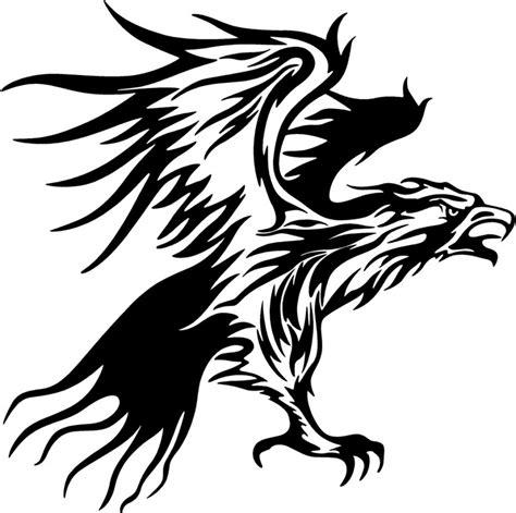 tribal flames eagle carvehicle tattoo design clipart